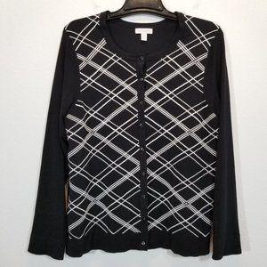 CHARTER CLUB Womens Black Knit Cardigan Sweater